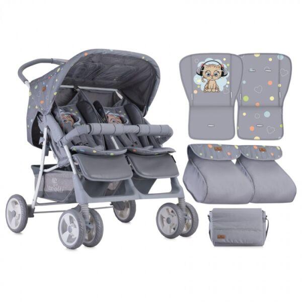 Прогулочная коляска LORELLI Twin Grey Cute Kitten
