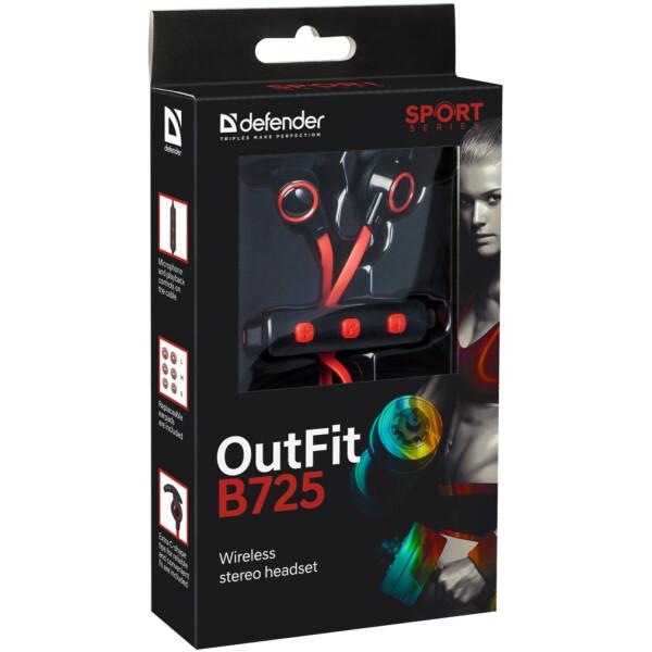 Наушники Defender B725 (черный/красный)