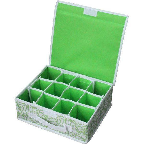 Коробка для хранения нижнего белья Рыжий кот NWH-1, арт.M312144, 12 ячеек, 28х23х10см