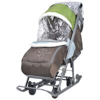 270x270-Санки-коляска НИКА Наши детки (фьюжен оливковый)