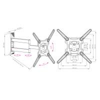 Кронштейн Kromax OPTIMA-406 (серый)