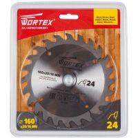 270x270-Диск пильный WORTEX 160х20/16 мм 24 зуб. по дереву (CSD160T24W2011)