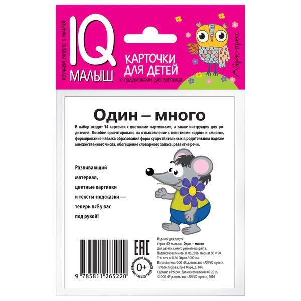 Набор карточек АЙРИС-ПРЕСС Умный малыш Один-много (978-5-8112-6522-0)