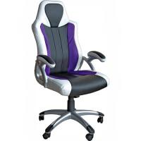 270x270-Кресло Mio Tesoro Луиджи X-2702 (черный/белый/фиолетовый)