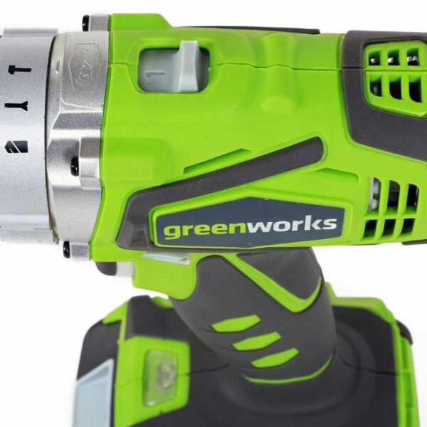 Аккумуляторная дрель-шуруповерт Greenworks G24CD (3801107) без АКБ и ЗУ