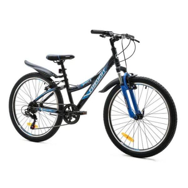 Велосипед Favorit Space 24 V (черный/синий)
