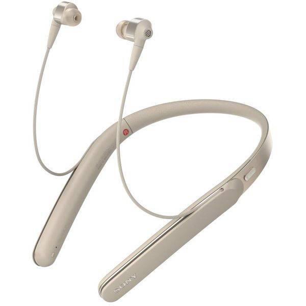 Наушники с микрофоном Sony WI-1000X (золото)