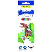 270x270-Карандаши цветные шестигранные SILWERHOF Динозавры 134197-18