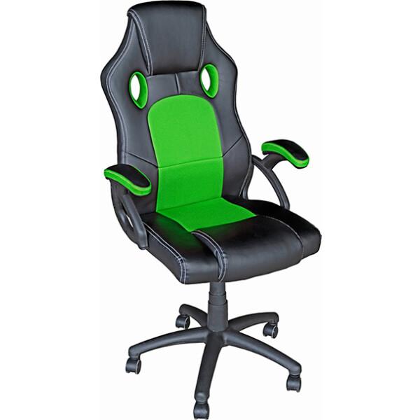 Кресло Mio Tesoro Дино X-2706 (черный/зеленый)