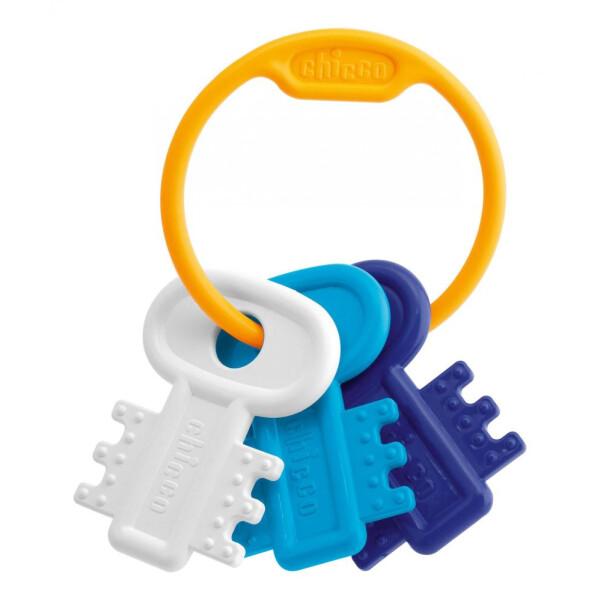 "Игрушка-погремушка Chicco ""Ключи на кольце"" голубые"