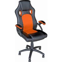 Кресло Mio Tesoro Дино X-2706 (черный/оранжевый)