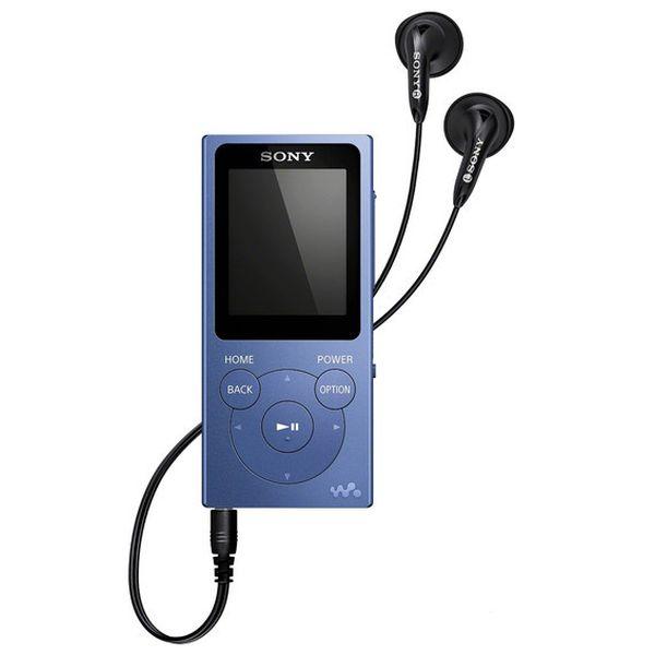 NW-E394 mp3 плеер, голубой цвет, 8 ГБ