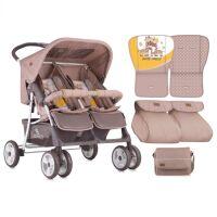 Прогулочная коляска LORELLI Twin Beige&Yellow Happy Family