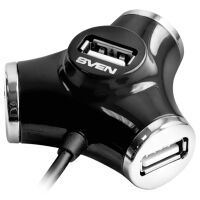270x270-USB-hub SVEN HB-012, черный (SV-008482)