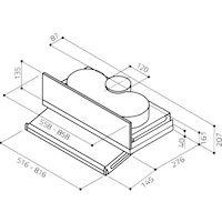 Кухонная вытяжка Elica Ciak Lux GR/A/L/56