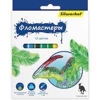 270x270-Фломастеры SILWERHOF Динозавры 867201-12