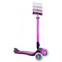 Самокат Globber Elite Deluxe Lights (розовый)