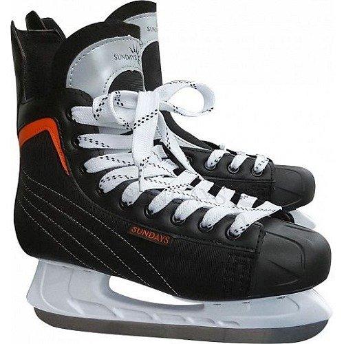 Коньки хоккейные Sundays PW-206G (40, черный/оранжевый)