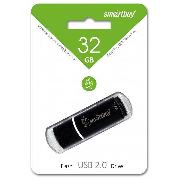 USB - Flash Smart Buy Crown 32Gb Black (SB32GBCRW-K)