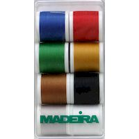 Набор ниток AEROFIL MADEIRA полиэстер №120, 400м, 8 цветов 8017