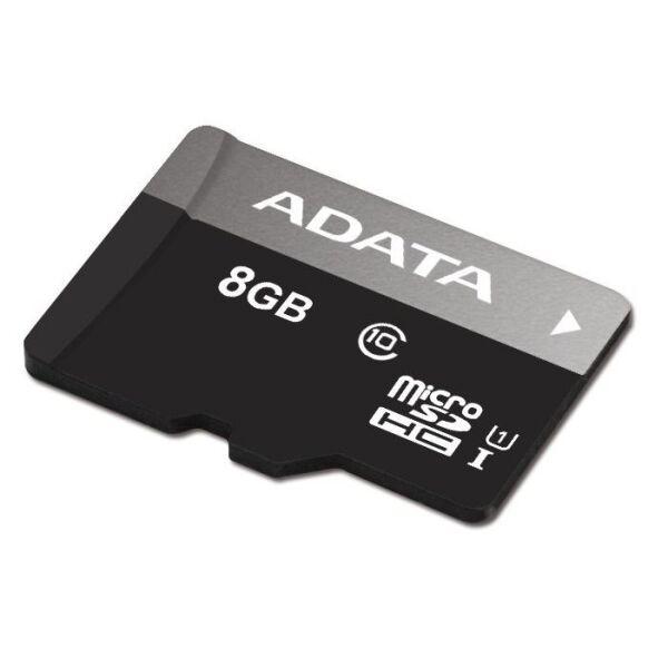 Карта памяти SDHC-micro 8GB ADATA AUSDH8GUICL10-RA1