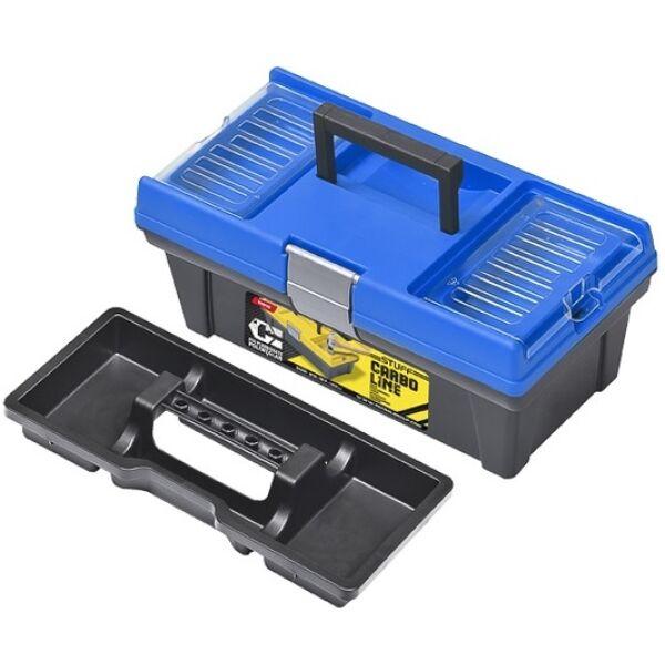 "Ящик для инструментов PATROL Stuff Semi Profi CARBO 12"" синий"