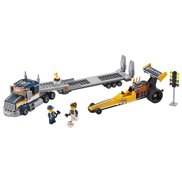 Конструктор LEGO Город Грузовик для перевозки драгстера 60151