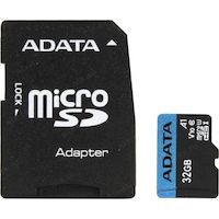Карта памяти A-DATA Premier AUSDH32GUICL10A1-RA1 microSDHC 32GB (с адаптером)