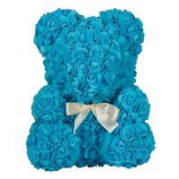 270x270-Мишка из роз TEDDY ROSE BEAR голубой (8005)