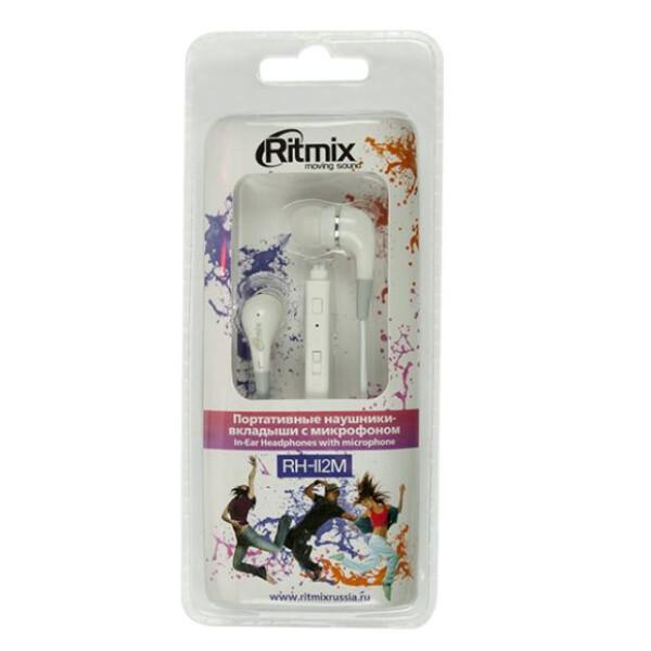Наушники RITMIX RH-112M (белый)