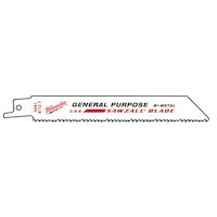 270x270-Полотно для саб. пилы (универсальное) MILWAUKEE GENERAL PURPOSE 150 х 3.2/2.1 5 шт 48005091