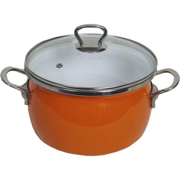 Кастрюля  Сантэкс 1-2440211 (оранжевый)