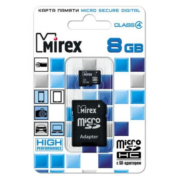 Карта памяти Mirex microSDHC 8GB (13613-ADTMSD08)