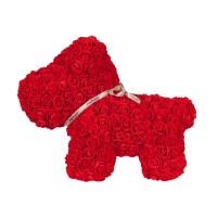 270x270-Собачка из роз TEDDY ROSE BEAR красный (8019)