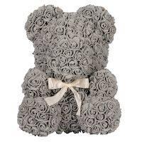 270x270-Мишка из роз TEDDY ROSE BEAR серый (8016)