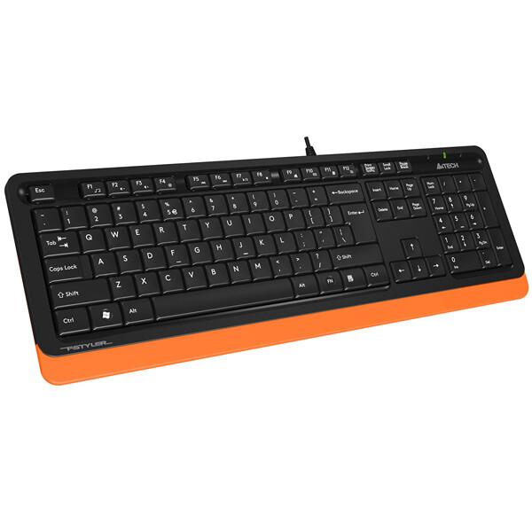 Клавиатура A4Tech Fstyler FK10 (черный/оранжевый)