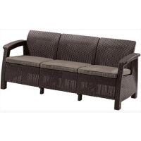 270x270-Диван садовый Keter Corfu Love Seat Max (коричневый)