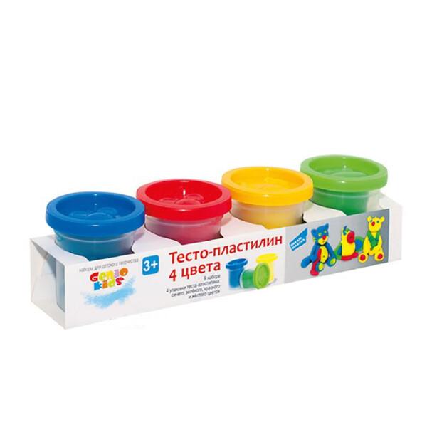 Набор для детского творчества GENIO KIDS-ART Тесто-пластилин 4 цвета TA1010