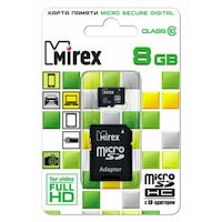 Карта памяти Mirex microSDHC 8GB (13613-AD10SD08)