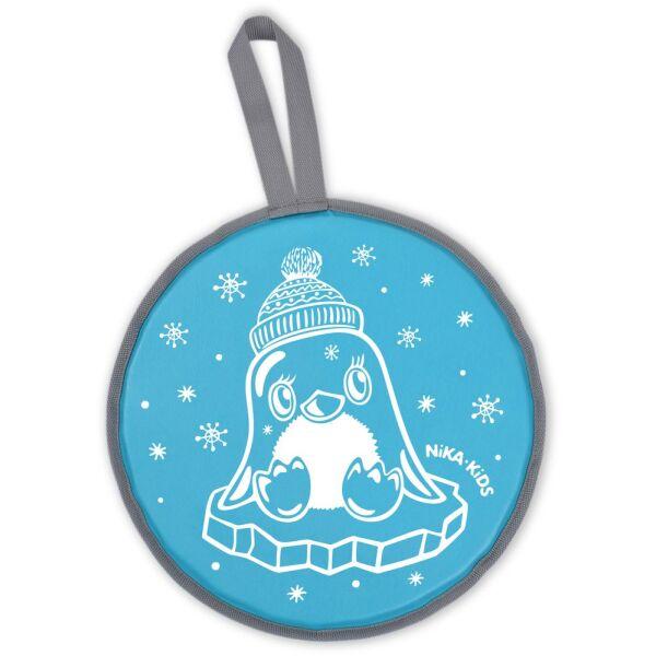 Санки-ледянка НИКА ЛР40 Пингвин (голубой)