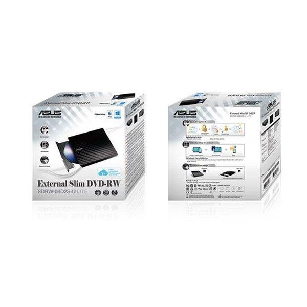 Привод оптических дисков ASUS SDRW-08D2S-U LITE BLACK (90-DQ0435-UA221KZ)